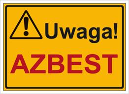 Obrazek dla kategorii Znak Uwaga! Azbest (319-50)