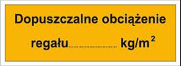 Obrazek dla kategorii Dopuszczalne obciążenie regału: …kg/m2 (853-01)