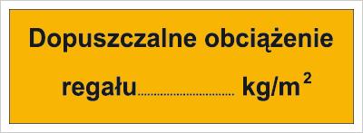 Dopuszczalne obciążenie regału: …kg/m2 (853-01)