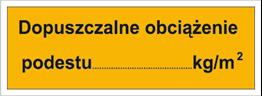 Obrazek dla kategorii Dopuszczalne obciążenie podestu: …kg/m2 (853-03)