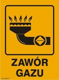 Obrazek dla kategorii Znak Zawór gazu (870-29)