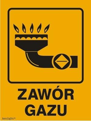Znak Zawór gazu (870-29)