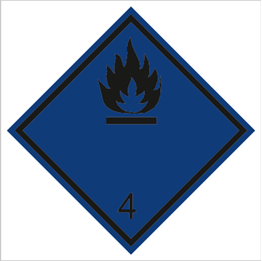 Obrazek dla kategorii Znak Materiały wytwarzające w zetknięciu z wodą gazy palne (215-11)
