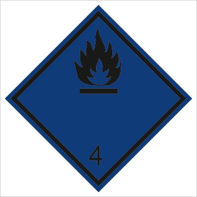 Znak Materiały wytwarzające w zetknięciu z wodą gazy palne (215-11)