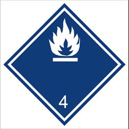 Obrazek dla kategorii Znak Materiały wytwarzające w zetknięciu z wodą gazy palne (215-12)