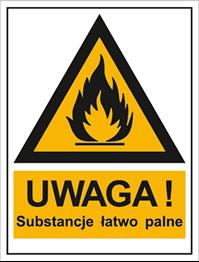 Obrazek dla kategorii Znak Ostrzeżenie przed substancjami łatwopalnymi (800-92)