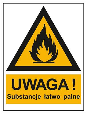 Znak Ostrzeżenie przed substancjami łatwopalnymi (800-92)