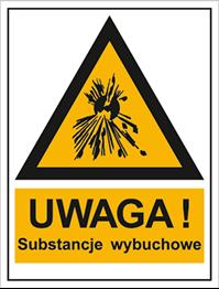 Obrazek dla kategorii Znak Ostrzeżenie przed substancjami wybuchowymi (800-93)