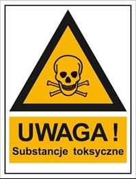 Obrazek dla kategorii Znak Ostrzeżenie przed substancjami toksycznymi (800-94)