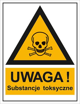 Znak Ostrzeżenie przed substancjami toksycznymi (800-94)