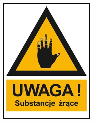 Znak Ostrzeżenie przed substancjami żrącymi (800-95)