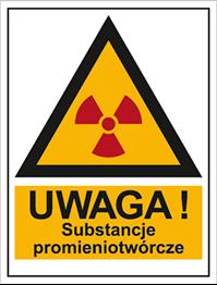 Obrazek dla kategorii Znak Ostrzeżenie przed substancjami promieniotwórczymi (800-96)