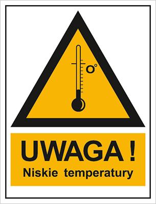Znak Ostrzeżenie przed niskimi temperaturami (800-97)