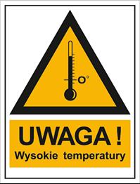 Obrazek dla kategorii Znak Ostrzeżenie przed wysokimi temperaturami (800-98)