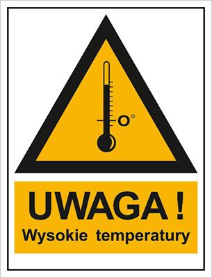 Znak Ostrzeżenie przed wysokimi temperaturami (800-98)