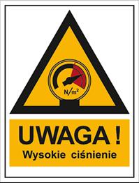 Obrazek dla kategorii Znak Ostrzeżenie przed wysokim ciśnieniem (800-99)