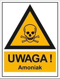 Obrazek dla kategorii Znak Uwaga! Amoniak (800-106)