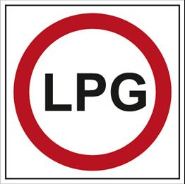 Obrazek dla kategorii Znak Zakaz wjazdu samochodów zasilanych gazem