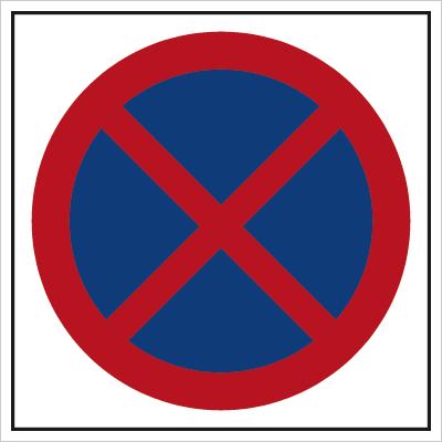 Znak Zakaz zatrzymywania się (702-08)