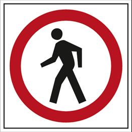Obrazek dla kategorii Znak Zakaz ruchu pieszych (702-09)