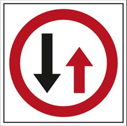 Obrazek dla kategorii Znak Pierwszeństwo dla nadjeżdżających z naprzeciwka (702-11)