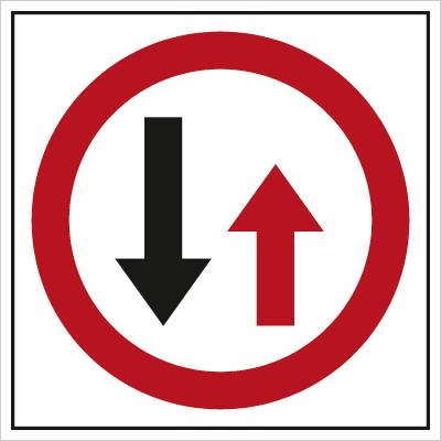Znak Pierwszeństwo dla nadjeżdżających z naprzeciwka (702-11)