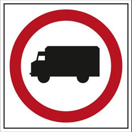 Obrazek dla kategorii Znak Zakaz wjazdu samochodów ciężarowych (702-12)