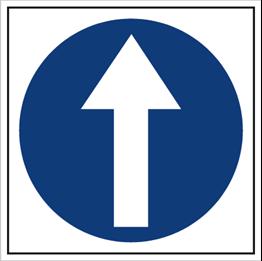 Obrazek dla kategorii Znak Nakaz jazdy prosto (703-01)