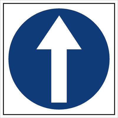 Znak Nakaz jazdy prosto (703-01)