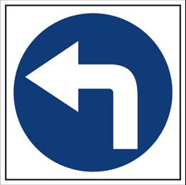 Obrazek dla kategorii Znak Nakaz jazdy w lewo (703-03)