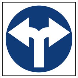 Obrazek dla kategorii Znak Nakaz jazdy w lewo lub prawo (703-04)