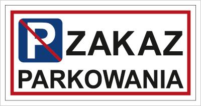 Znak Zakaz parkowania (704-01)