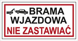 Obrazek dla kategorii Znak Brama wjazdowa. Nie zastawiać (704-05)