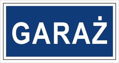 Znak Garaż (801-16)