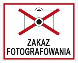 Obrazek dla kategorii Znak Zakaz fotografowania (609-02)