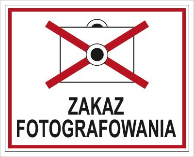 Znak Zakaz fotografowania (609-02)