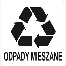 Obrazek dla kategorii Znak Odpady Mieszane (857-33)