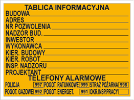 Obrazek dla kategorii Budowlana tablica informacyjna (319)