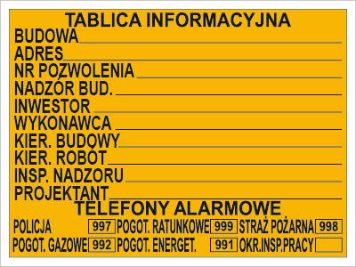 Budowlana tablica informacyjna (319)