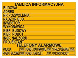 Obrazek dla kategorii Tablice informacyjne na budowę