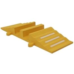 Obrazek Próg kablowy, żółty,  680 mm x 830 mm x 90 mm