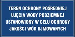 Obrazek dla kategorii Znak Teren ochrony pośredniej ujęcia wody podziemnej Ustanowiony w celu ochrony jakości wód ujmowanych (824-03)