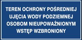 Obrazek dla kategorii Znak Teren ochrony pośredniej ujęcia wody podziemnej Osobom nieupowąznionym wstęp wzbroniony (824-06)