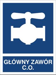 Obrazek dla kategorii Znak Główny zawór C.O. (867-01)