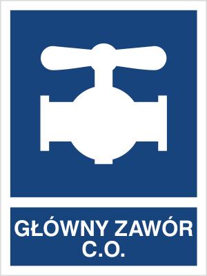 Znak Główny zawór C.O. (867-01)