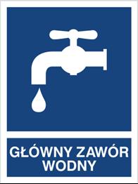 Obrazek dla kategorii Znak Główny zawór wodny (867-02)