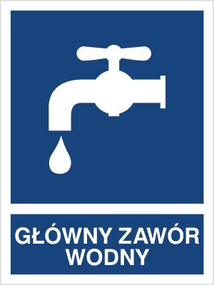 Znak Główny zawór wodny (867-02)