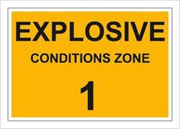 Obrazek dla kategorii Znak Explosive conditions zone 1 (829-01)
