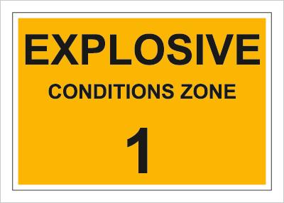 Znak Explosive conditions zone 1 (829-01)