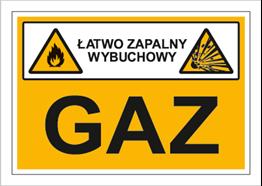 Obrazek dla kategorii Znak Gaz (łatwo zapalny, wybuchowy) (870-02)